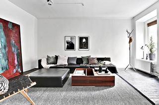 72平单身公寓装修客厅效果图