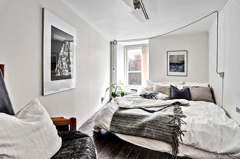 72平单身公寓装修卧室效果图
