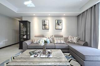 140平简约三居室转角沙发图片