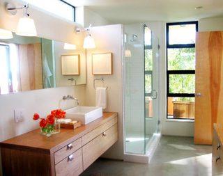 小清新浴室洗手池图片