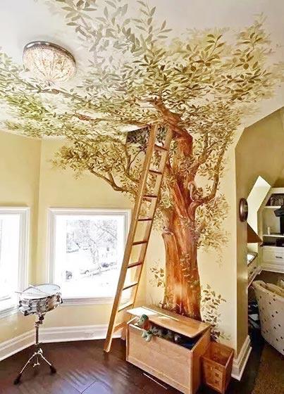 卧室手绘设计构造图
