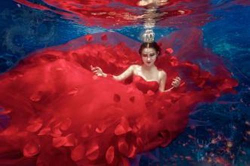 拍摄水中婚纱已经成为一种流行趋势图片