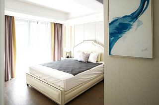 现代风格样板房主卧窗帘效果图