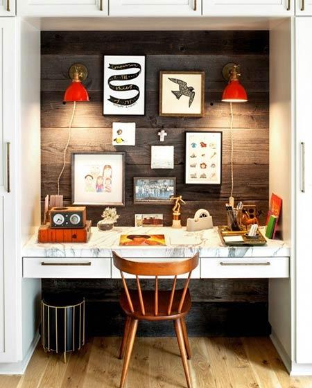 小户型装修家庭工作区设计图