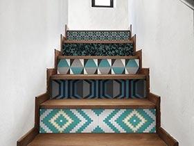 踏出精彩人生  10个楼梯装饰布置图