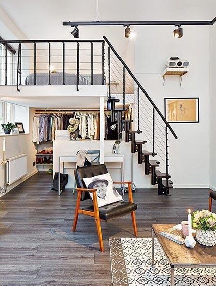 loft风公寓装修装饰效果图