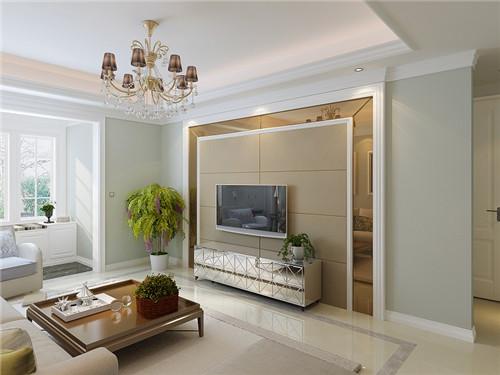 电视背景墙硬包效果图 实用又大气的背景墙硬包设计