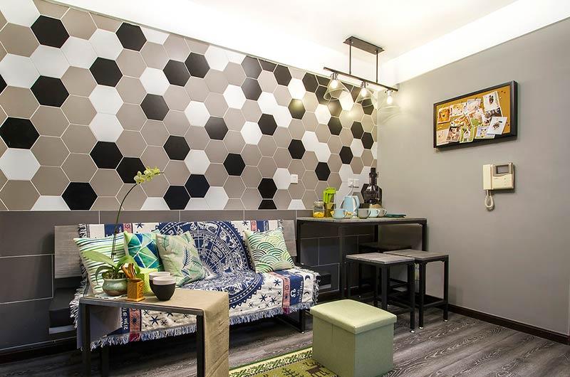 40平loft公寓装修客厅效果图