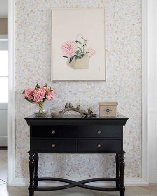 130平美式四居室玄关壁纸图片