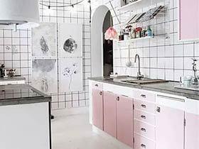 10个马卡龙色厨房装修效果图 满满少女心