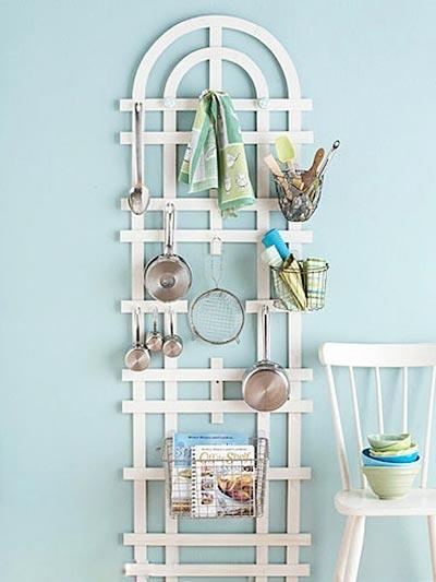 厨房墙壁收纳架布置图