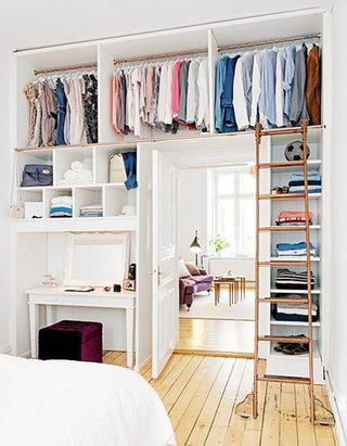卧室收纳柜布置摆放图