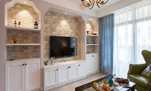美式客厅电视背景墙效果图图片 美式风格电视背图片