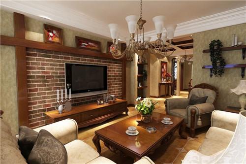 美式客厅装修效果图 浪漫质朴的美式客厅装修设计