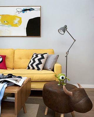 北欧风格小三室装修布艺沙发图片