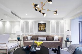 220平美式风格四居布艺沙发图片