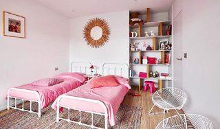 粉色系卧室床参考图