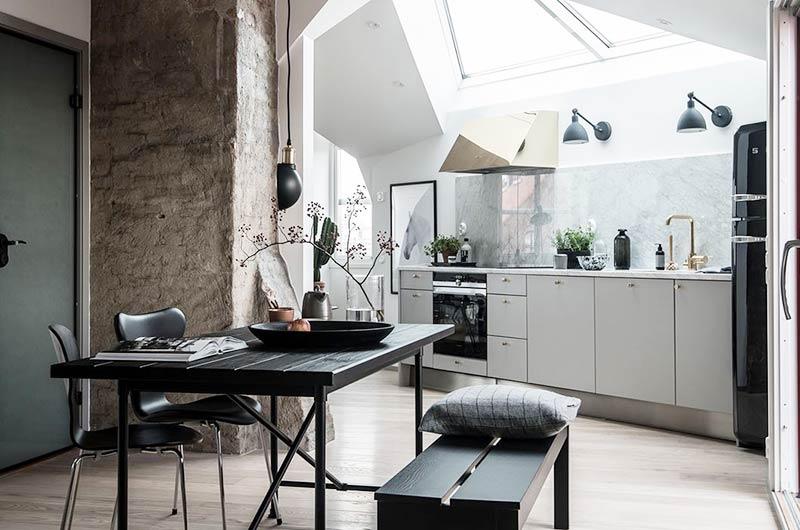 35平单身公寓装修餐桌图片
