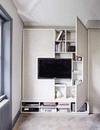 电视背景墙收纳图片