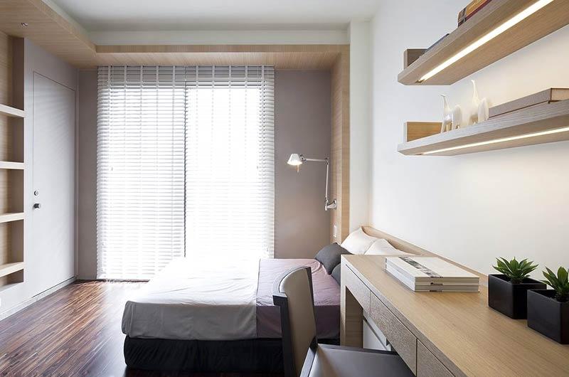 简约风格三居装修卧室效果图