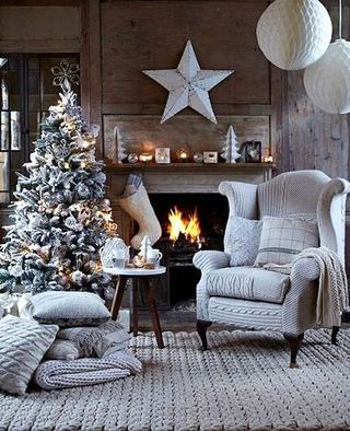 欧式风格圣诞客厅布置图