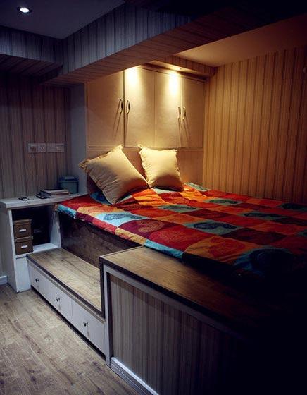 卧室床收纳装修装饰效果图