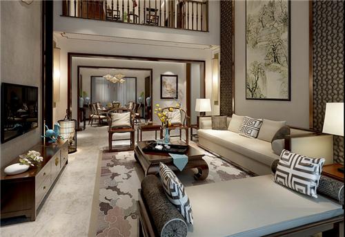 客厅墙壁装修效果图 优雅轻奢的客厅装修设计案例图片