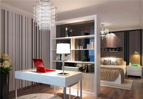 主卧带书房装修效果图 几款不错的主卧带书房设计