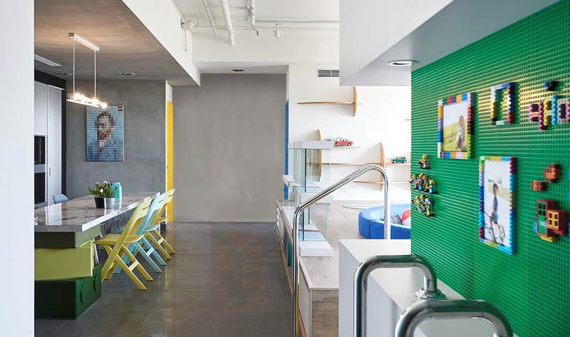 混搭风格两居室装修照片墙设计