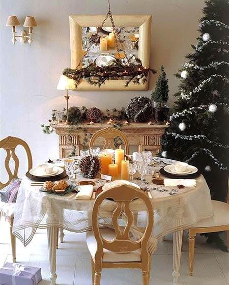 家庭餐厅圣诞布置效果图