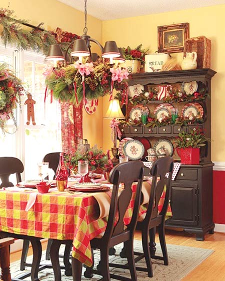 室内圣诞节餐厅布置效果图