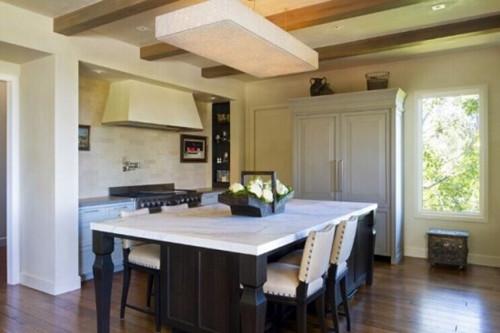 美式厨房效果图 美式乡村开放式厨房装修案例