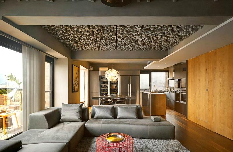 160平复式楼装修客厅设计图