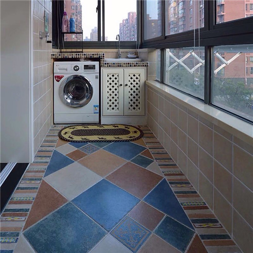 阳台地砖价格一般多少钱 阳台个性地砖铺贴效果图高清图片