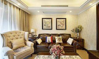 90㎡美式四居室客厅图片