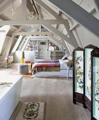 阁楼卧室设计实景图片