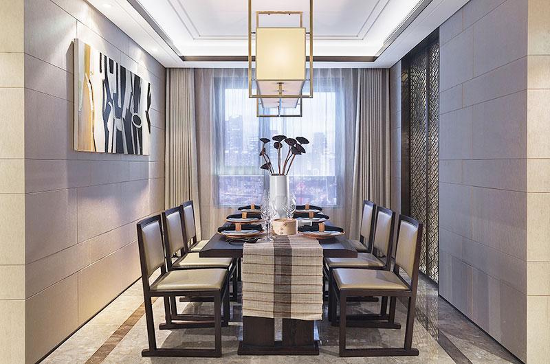 简约风格样板间餐厅吊灯效果图