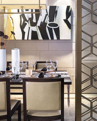 简约风格样板间餐厅背景墙装饰画
