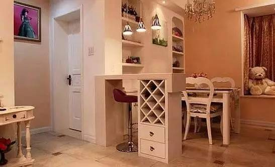 室内吧台装修效果图 家庭装修小吧台设计
