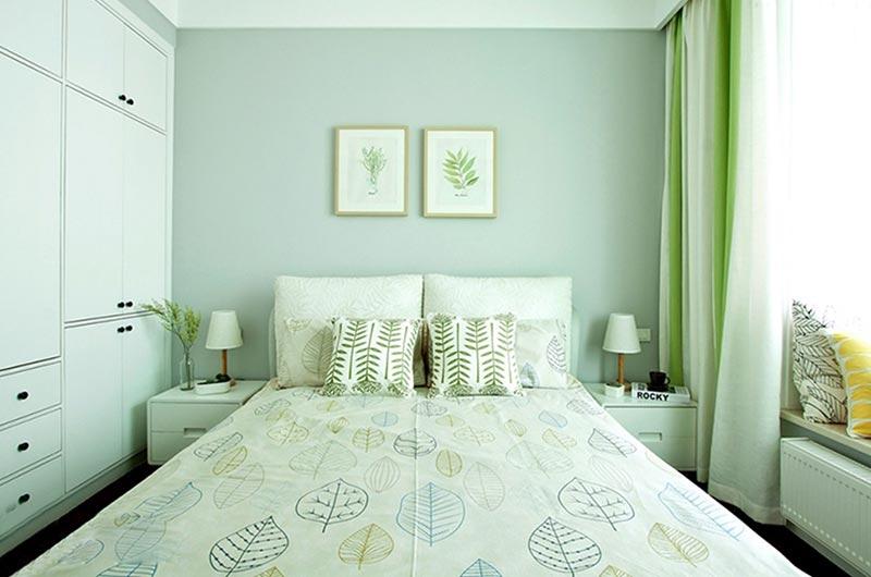 130平北欧风格三居卧室窗帘图片-您正在访问第5页 装修效果图案例