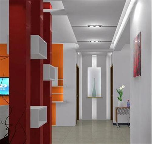 进门过道装修效果图 走廊过道展示别样风景图片