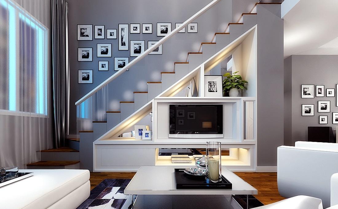 现代简约客厅装修效果图 125平现代简约风格客厅