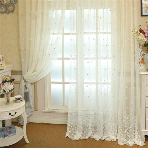 城阳区装饰装修公司白色窗帘效果图 清爽又透气的白色