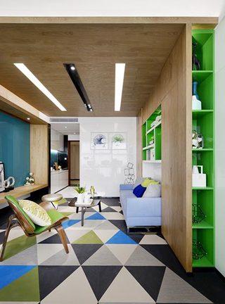 32㎡单身公寓设计整体效果图