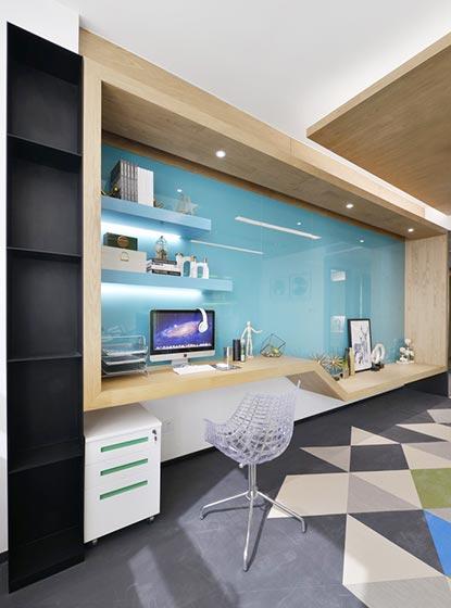 单身公寓书桌设计图