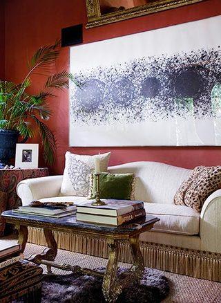 客厅色彩搭配装修平面图