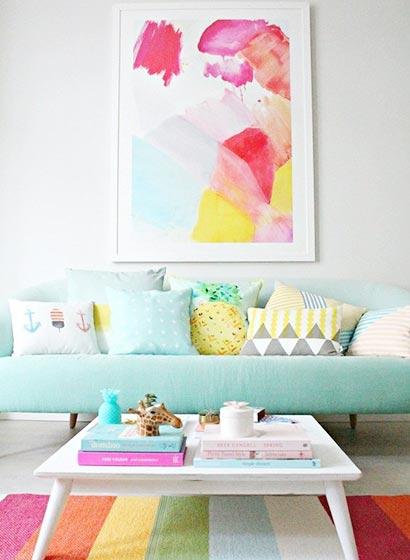 客厅色彩搭配实景图片