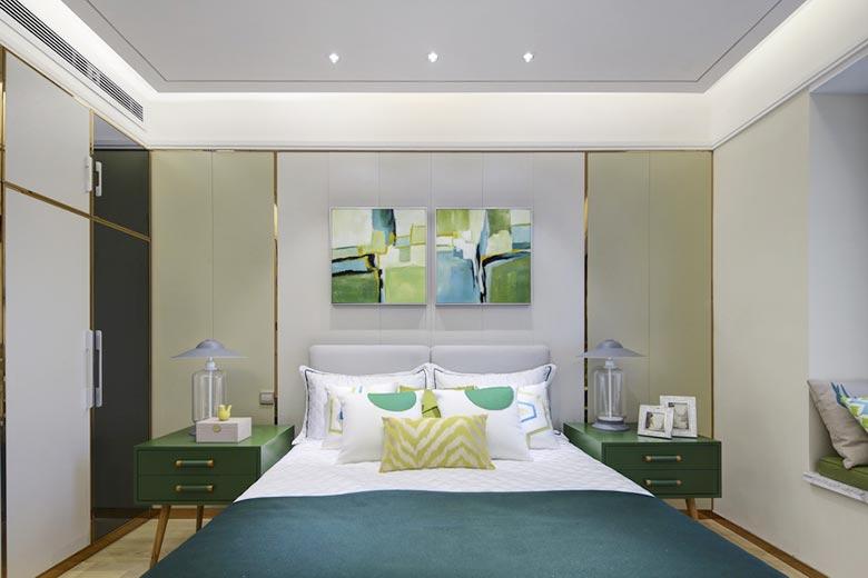 卧室床头背景装修图