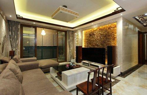 140平米房子装修效果图 大户型现代中式装修案例