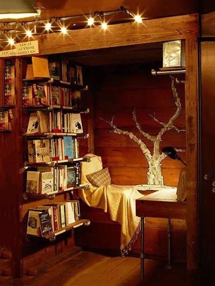 复古风书房卧室装修装饰效果图